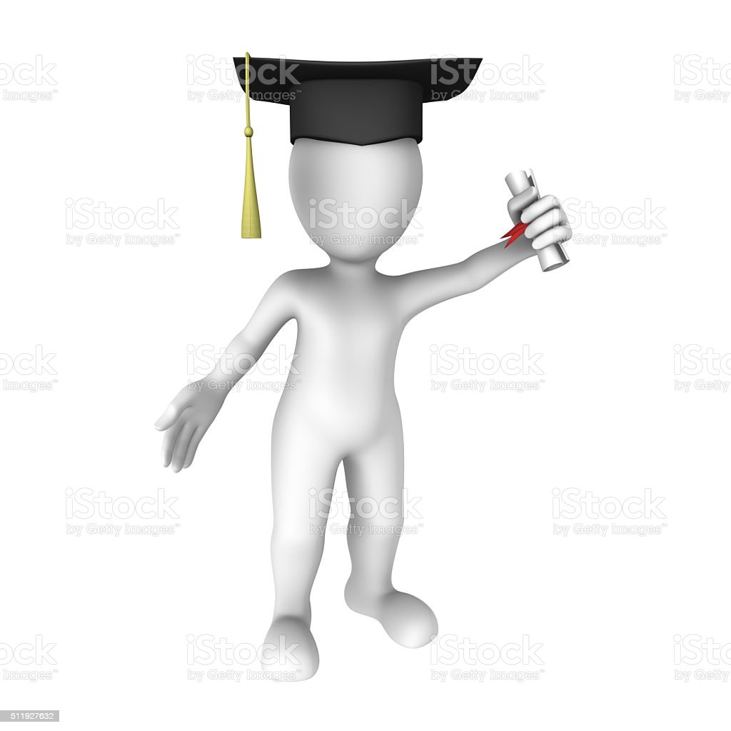 Graduation of 3d student stock photo