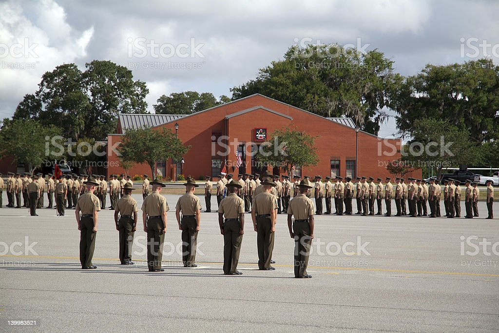 Graduation of Marines from Parris Island 01 stock photo