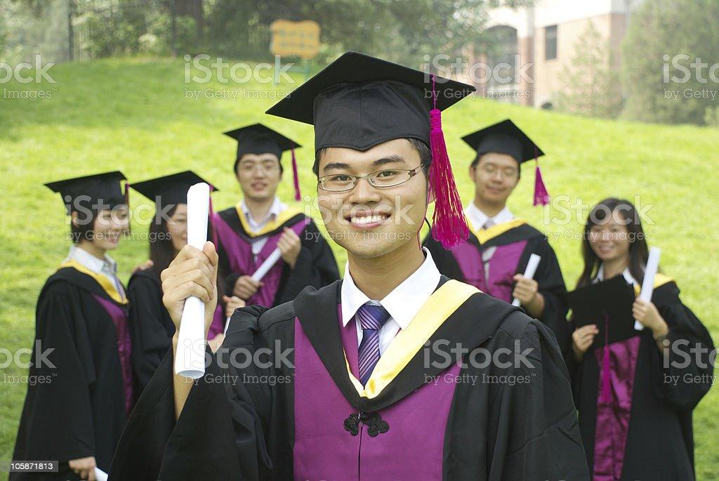 graduation royalty-free stock photo