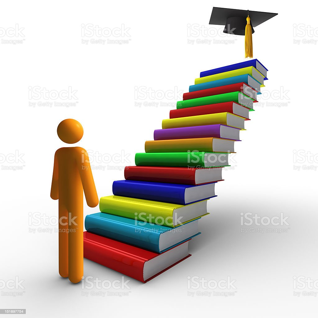 Graduation (isolated) royalty-free stock photo