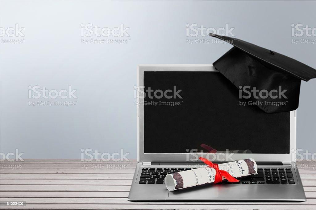 Celebrazione della laurea - foto stock