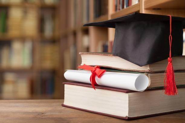 graduation. - graduation cap stock pictures, royalty-free photos & images