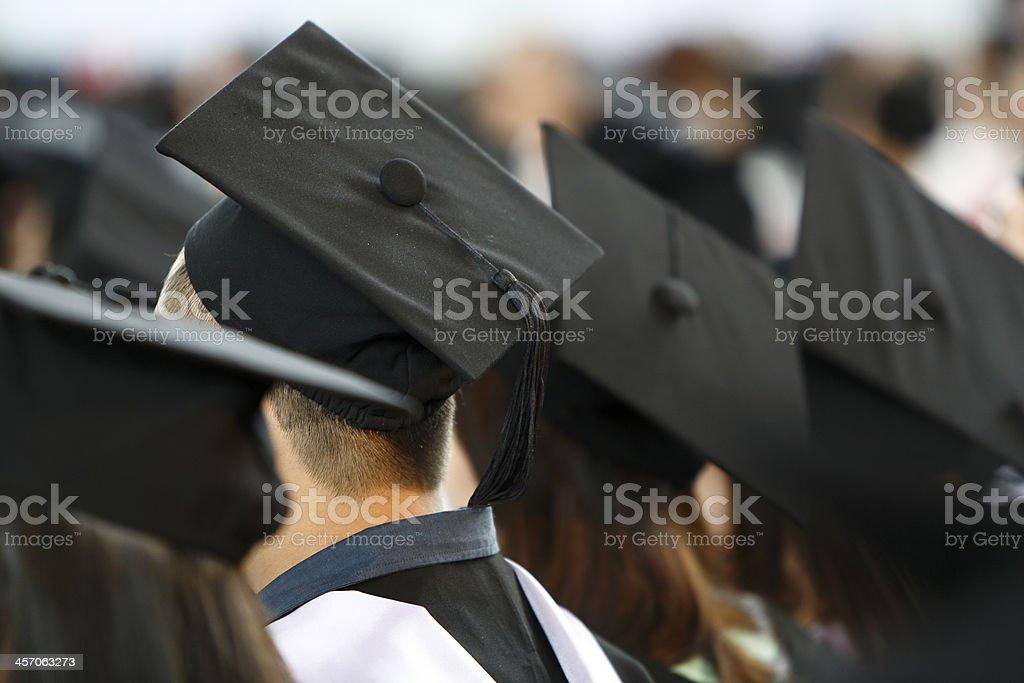Graduation shot stock photo
