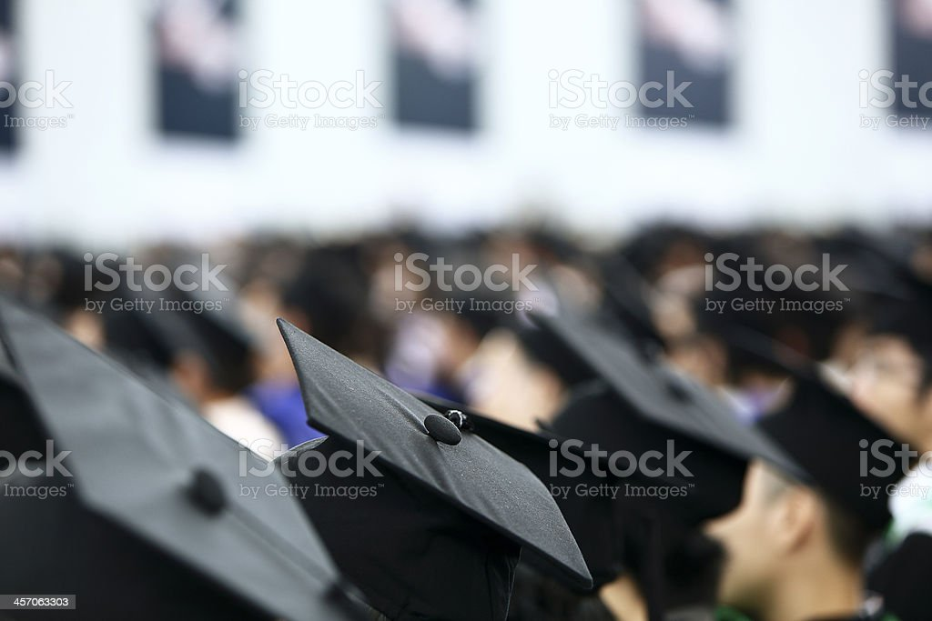 Graduation shot stock photo