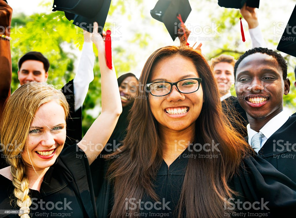 Graduation Student Commencement University Degree Concept stock photo