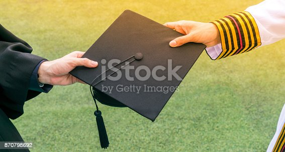 istock Graduation student commencement university with Asian commencement suit. 870798692