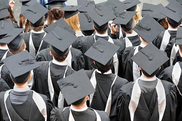 Graduation Students stock photo