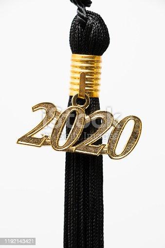 2020 Graduation tassel close up.