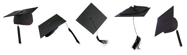 graduation time - graduation cap stock pictures, royalty-free photos & images