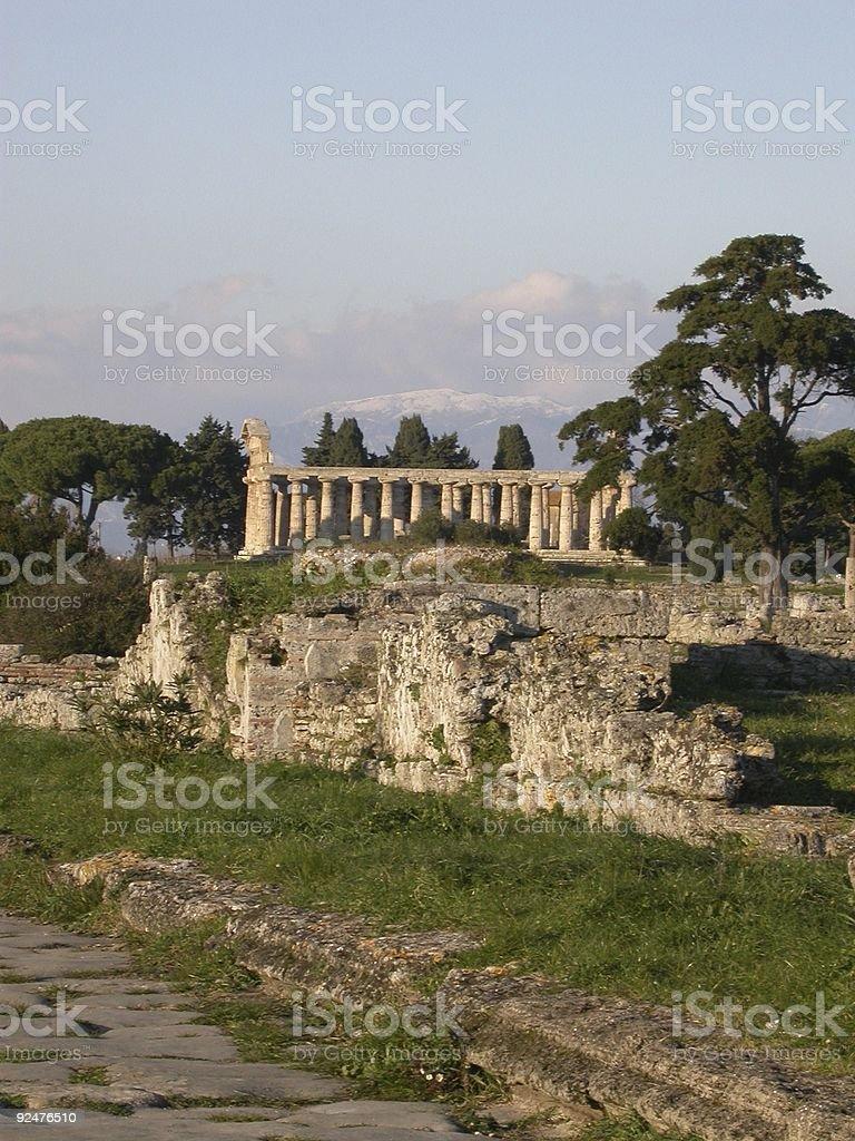 Graeco Roman Temple royalty-free stock photo