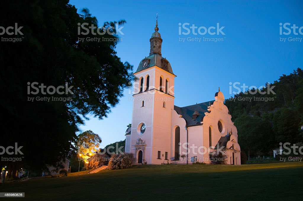 Graenna Kyrkan Church, Joenkoeping, Sweden stock photo