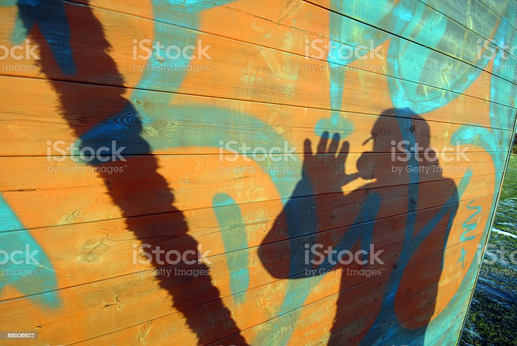 Graffiti and Shadow royalty-free stock photo