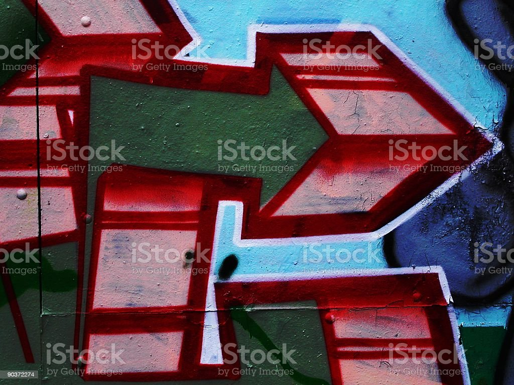 Graffiti Arrow royalty-free stock photo