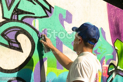 istock Graffiti artist is working 171240691