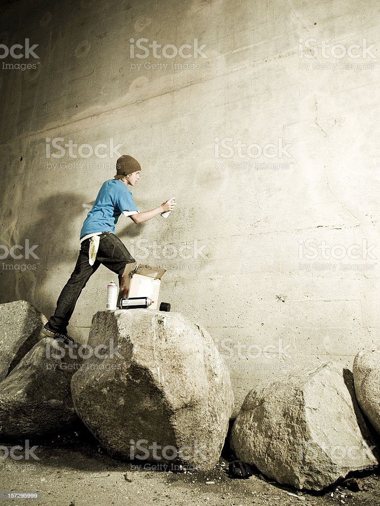 Graffiti Artist with Copyspace royalty-free stock photo