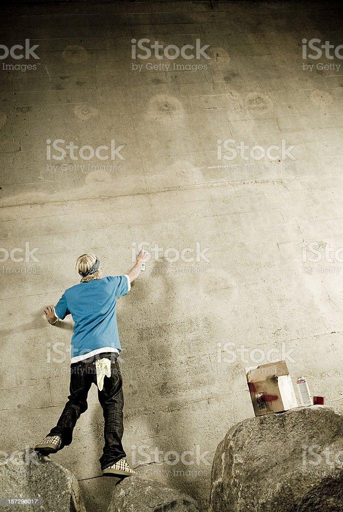 Graffiti Artist with Copyspace royalty-free stock photo