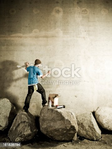 istock Graffiti Artist with Copyspace 161839794