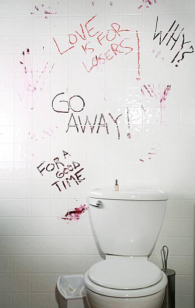 Graffiti Bathroom stock photo