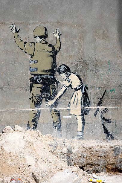 graffiti bethlehem - trennungssprüche stock-fotos und bilder