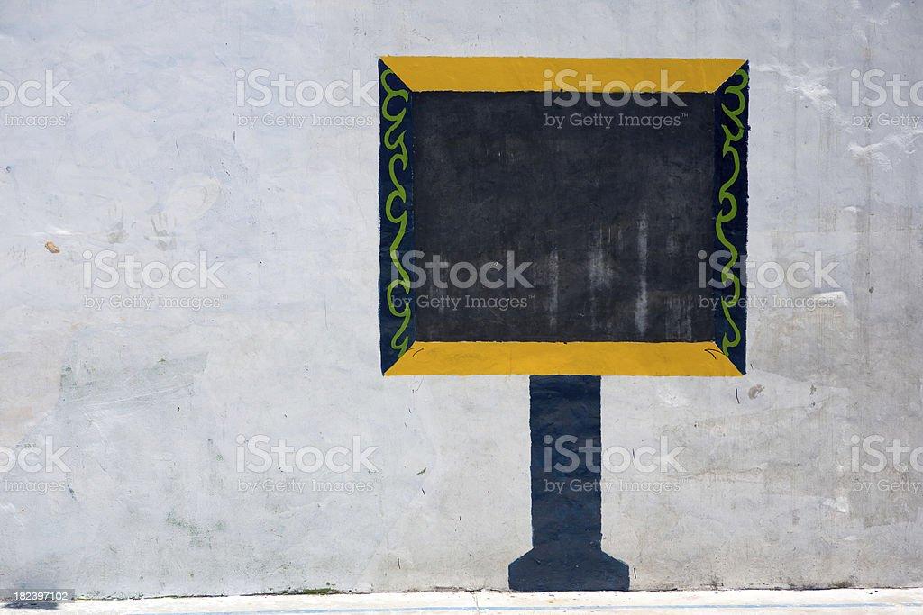 Graffiti Blackboard in la Boca royalty-free stock photo