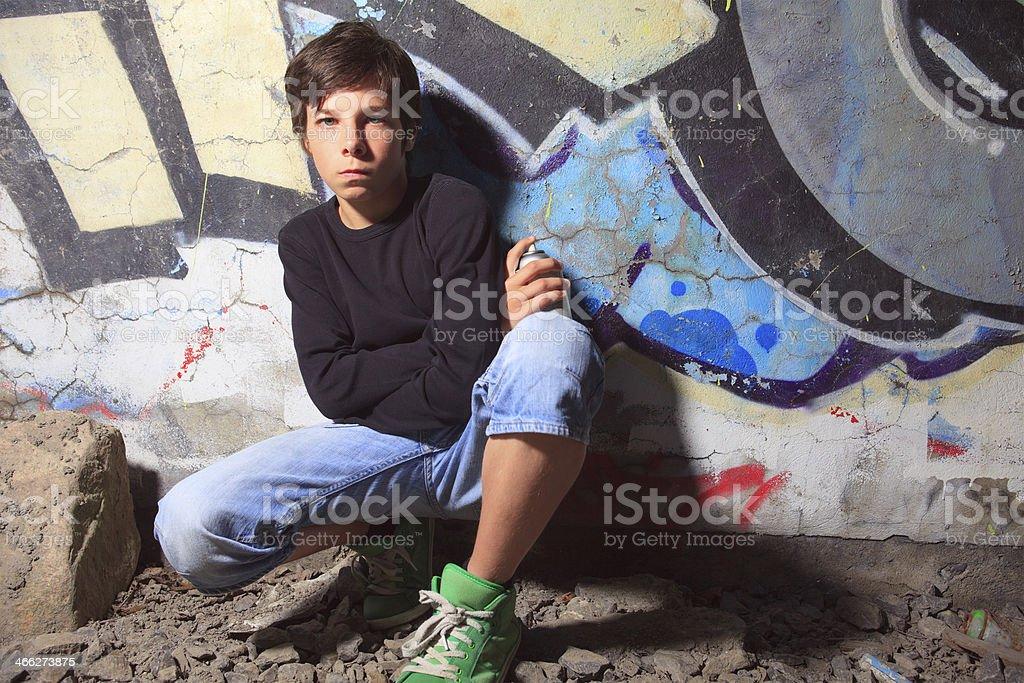 Graffiti Boy royalty-free stock photo
