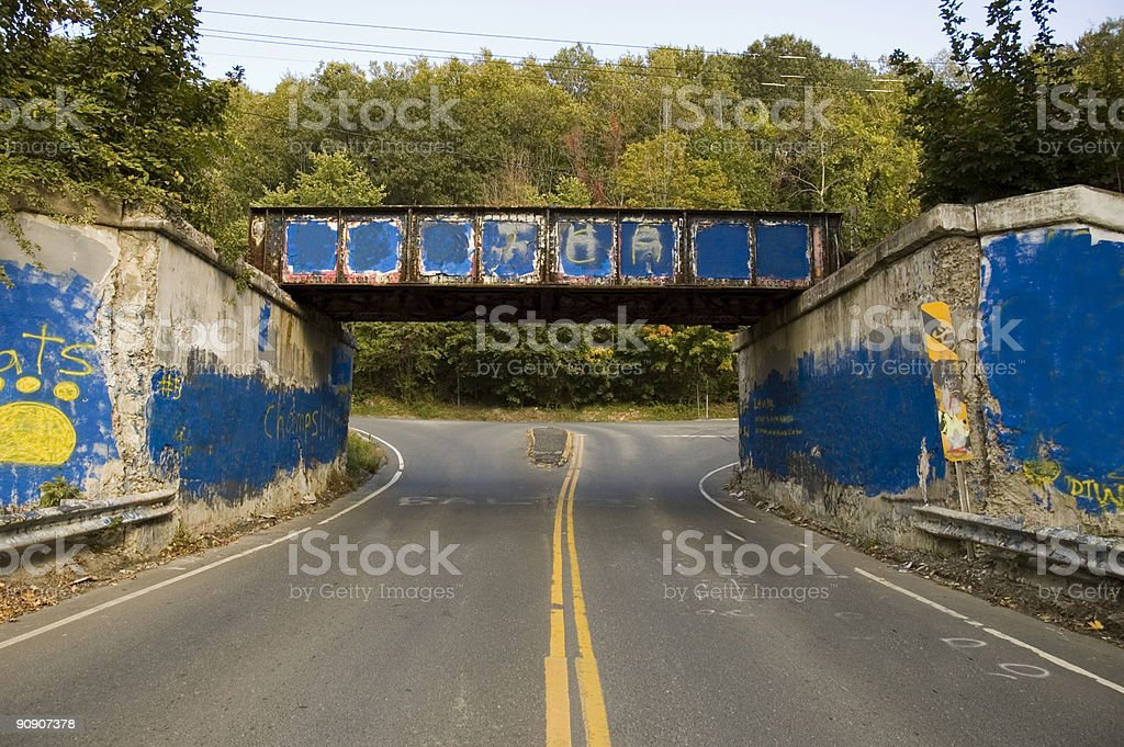 graffiti bridge stock photo
