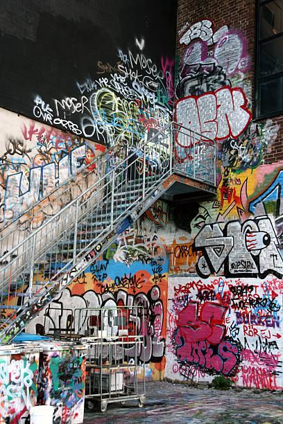 Graffiti Corner stock photo