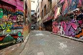 istock Graffiti covered alley in Melbourne, Australia 134116671