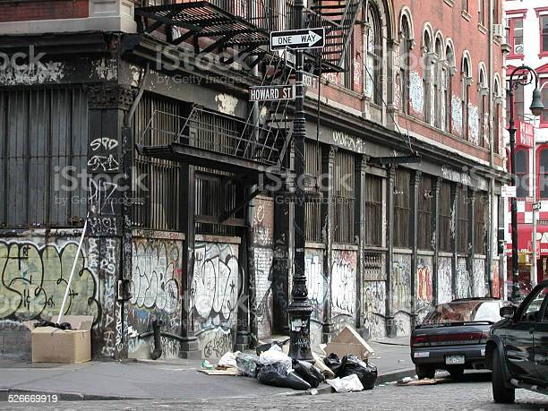 Graffiti Covered Constable Building 53 Howard ST SOHO NYC 2002