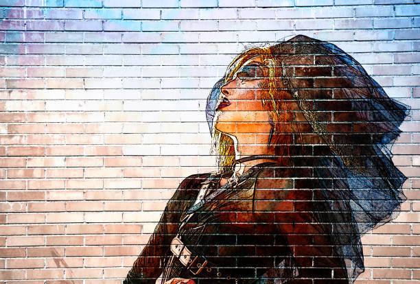graffiti-drag-queen - faschingssprüche stock-fotos und bilder