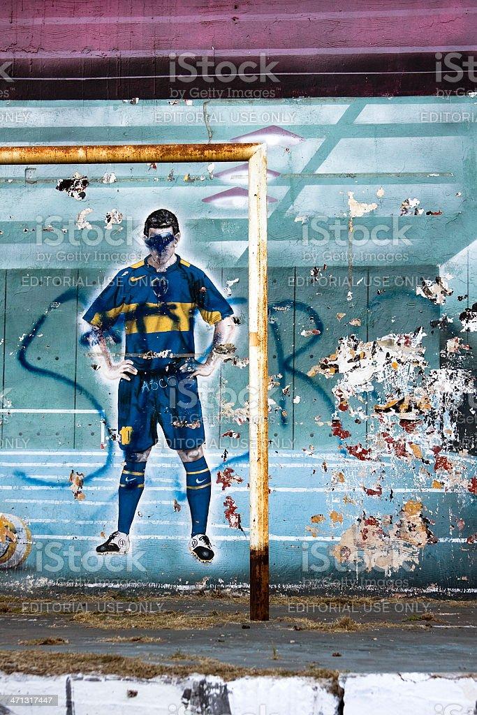 Graffiti football royalty-free stock photo