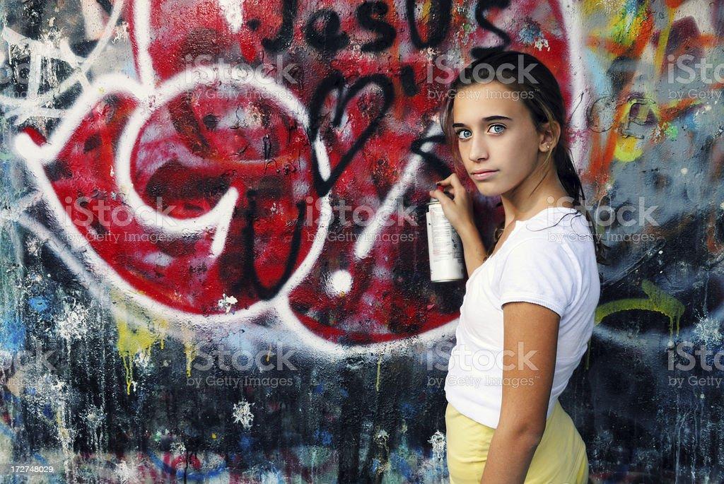 Graffiti For Jesus royalty-free stock photo