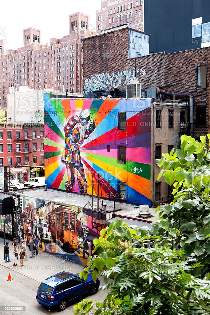 Graffiti from High-Line stock photo