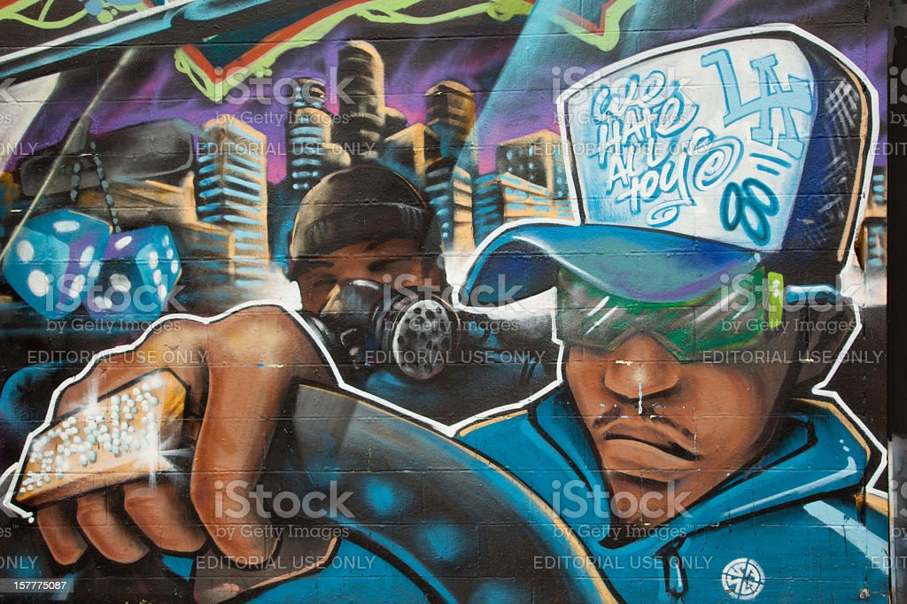 Graffiti Gangster Drives Stock Photo More Pictures Of Architecture
