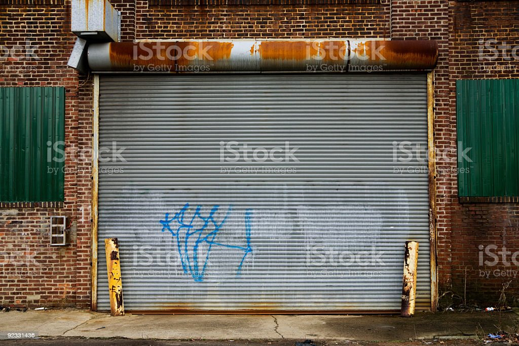 graffiti garage stock photo