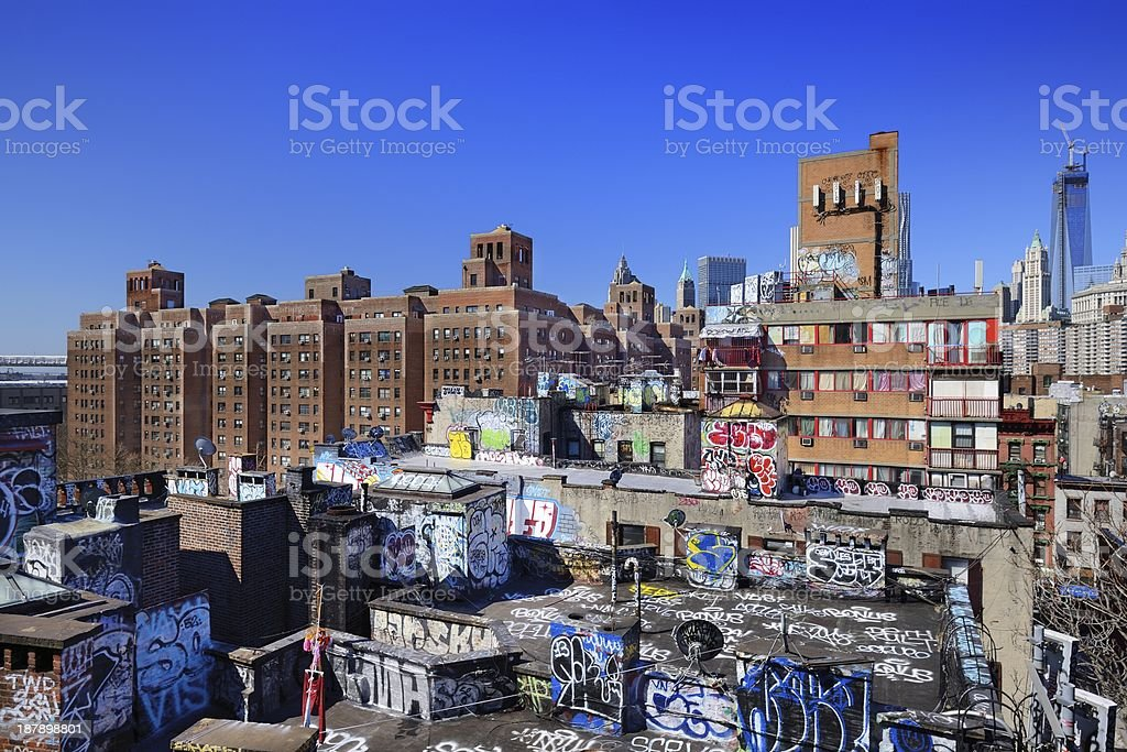 Graffiti  in New York City stock photo