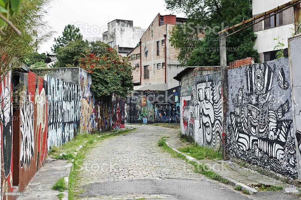 Graffiti in Sao Paulo, Brazil royalty-free stock photo