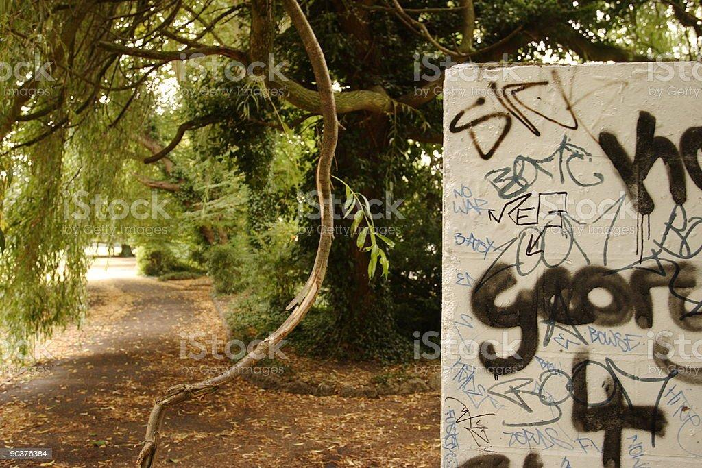 Graffiti in the park royalty-free stock photo