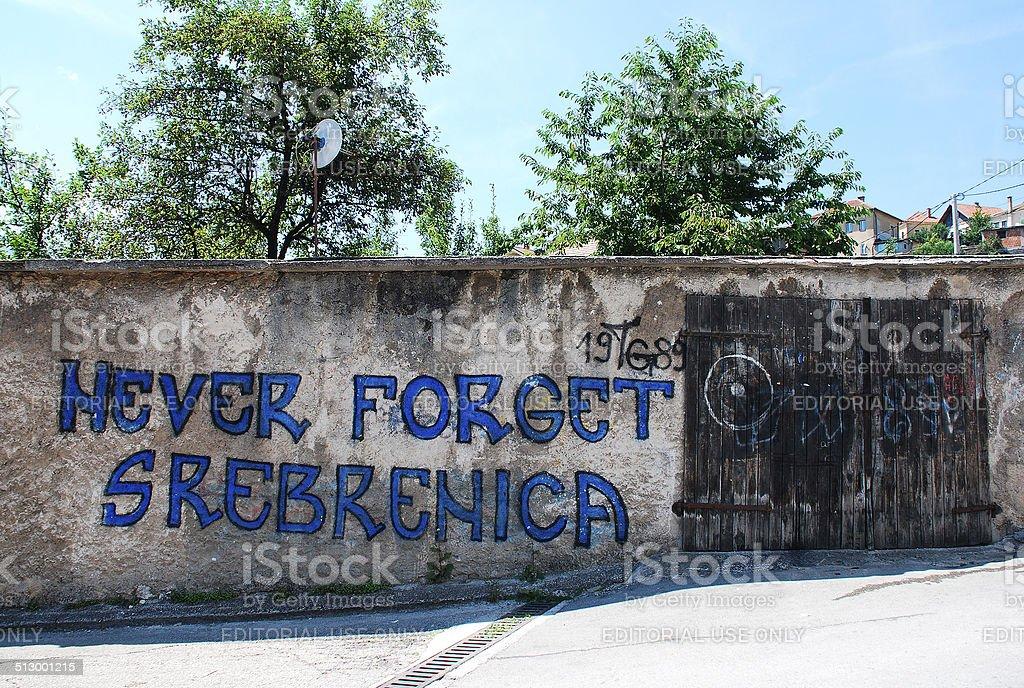 Graffiti in Travnik stock photo