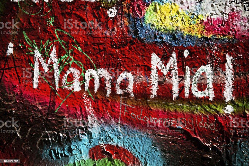 Blackpink Zero Budget: Graffiti Mama Mia Stock Photo & More Pictures Of Abstract