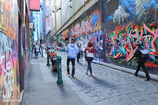 488380038 istock photo Graffiti Melbourne lane 509275719