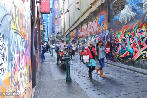 488380038 istock photo Graffiti Melbourne lane 509292065