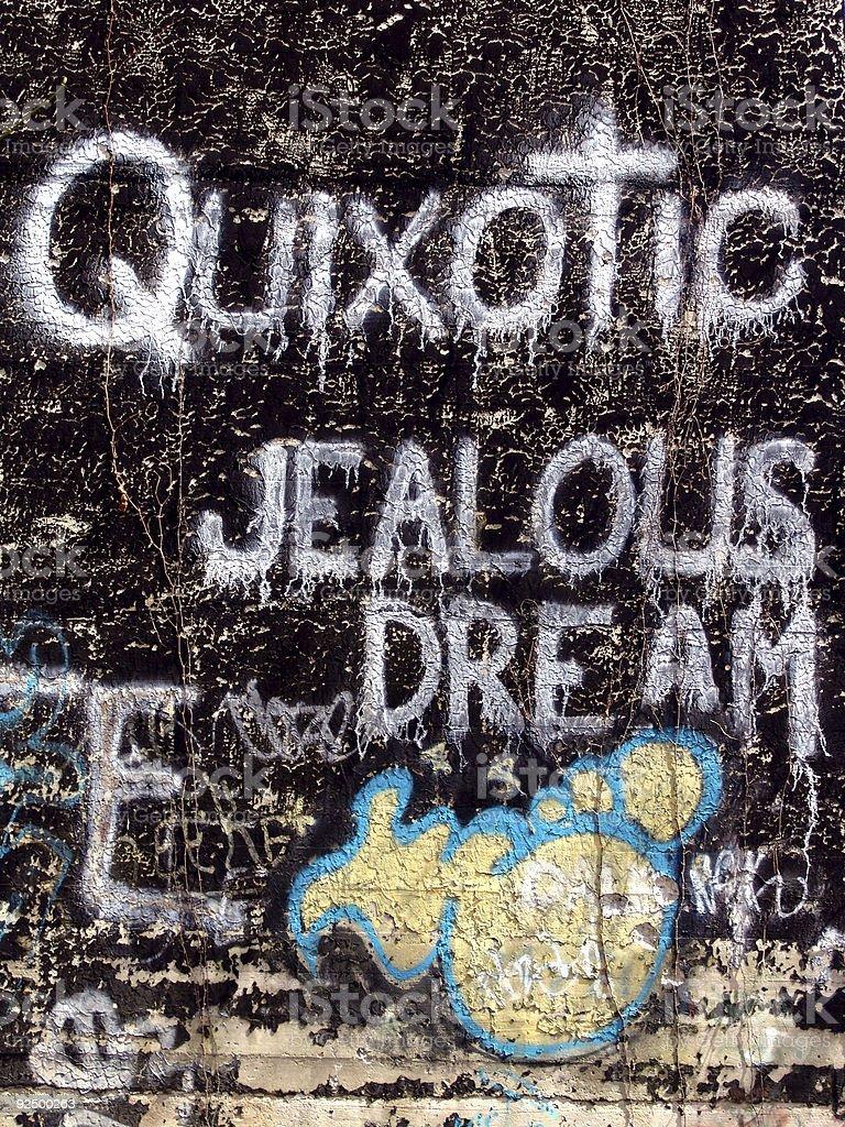 Graffiti Message royalty-free stock photo