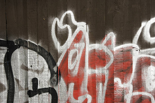 graffiti in red black and white - whiteway graffiti stock photos and pictures