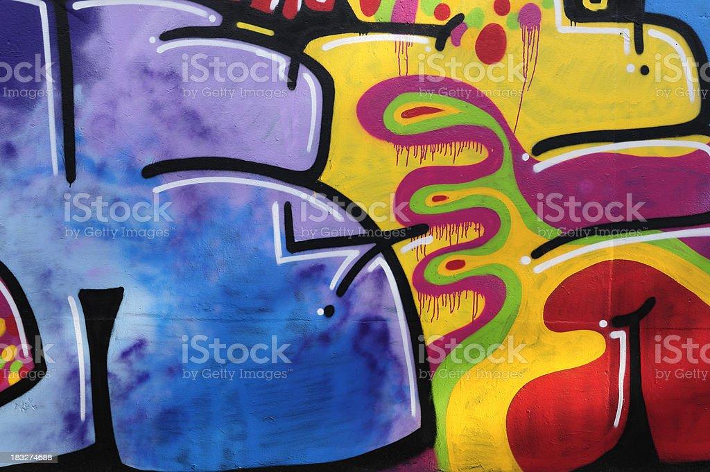 Graffiti on a concrete wall stock photo