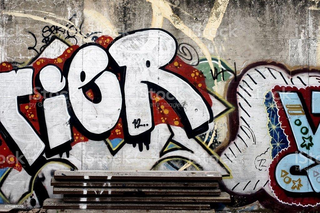 Graffiti an der Wand – Foto