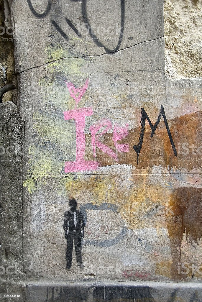 Graffiti on a wall, Turkey, Istanbul, Taksim royalty-free stock photo