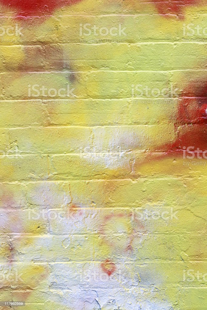 Graffiti On Brick Wall royalty-free stock photo