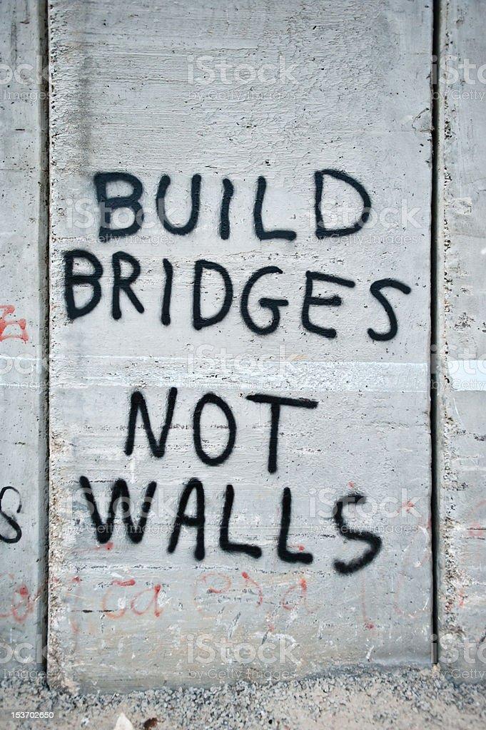 Graffiti on Israeli Separation Barrier stock photo