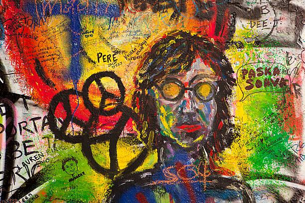 Graffiti an der Wand Lennon – Foto